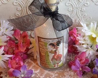 Gypsy Magic Bath Salts, Dead Sea Salt, Bath Salts in Corked Apothecary Bottle