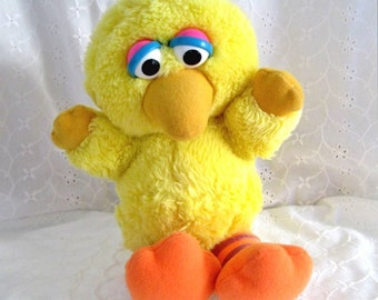 Vintage 1980's Plush Baby Big Bird Hasbro Softies