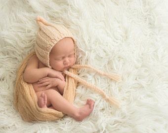 Newborn photo prop, newborn hat, newborn boy, newborn girl, newborn props,newborn ribbed bonnet/ gnome hat, newborn knit hat, newborn bonnet