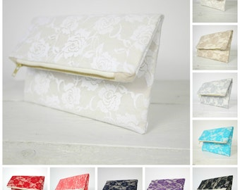 Lace clutches | Lace bridesmaid clutch | Bridesmaid lace purse | Bridesmaid Clutch Gift available in 10 colors!!!