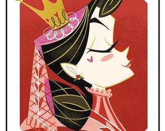 Queen of Hearts portrait print