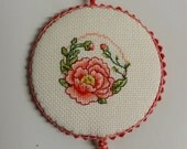Peony Flower Pinkeep Pin Keep Pincushion Sewing Accessory