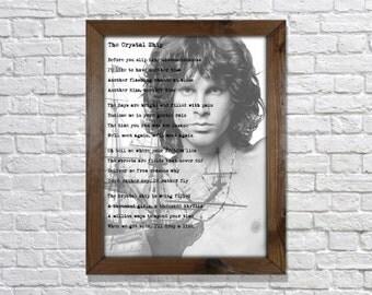 Jim Morrison The Doors The Crystal Ship Lyrics Art Print