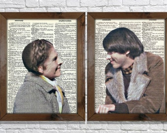 1970s Harold & Maude Vintage Upcycled Dictionary Art Prints