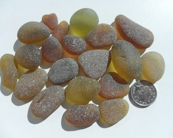 20 Beautiful English Seaham Sea Glass Pieces - Free Shipping (4743)