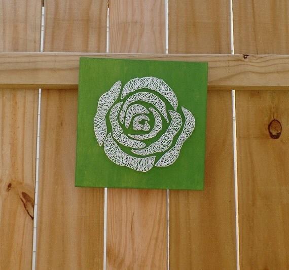 Rose String Art - Rose Wall Decor - White Rose - Free US Shipping