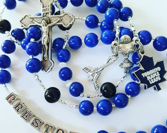 First Communion Hockey Rosary
