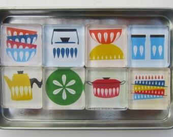 Mid Century Modern, Refrigerator Magnets, Mid Century Modern Decor, Mid Century Magnets, Catherine Holm, MCM Magnets, Fridge Magnets, MCM