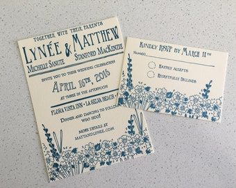 Letterpress Wedding Invitations - Amemone