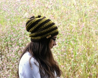 Hat Beanie Crochet Slouchy Knit Dread Toque Hat Chunky Wool Beanie Small More Color Options