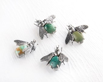 Don't Bug Me Turquoise Sterling Silver Pin Brooch