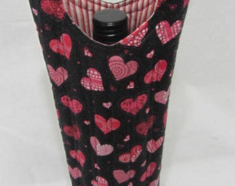 Valentine Sweetheart Wine Gift Bag Wine Tote Quilted Wine Bag