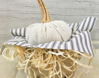 Fabric Pumpkin-Rustic-Farmhouse Pumpkin