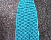 Vintage Child-Sized Metal Ironing Board Great Teal Turquoise Color Metal board and legs
