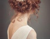 Floral bridal hair comb - Gold floral hair comb - Gold hair comb - Wedding hair piece - Wedding hair comb