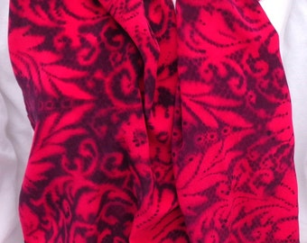 silk scarf Red Black Paisley hand painted crepe large long luxury unique wearable art women fashion