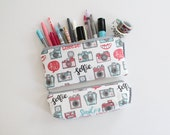 pencil pouch -- camera happy instagram inspired