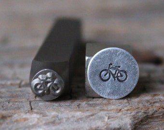 Bike Metal Stamp-7mm Size-Steel Stamp-New Metal Design Stamps-by Metal Supply Chick-DCH52