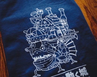 Howl's Moving Castle Inspired Screenprinted T-Shirt