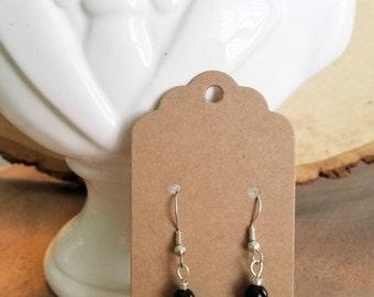 Black White Turquoise Dangling Earrings