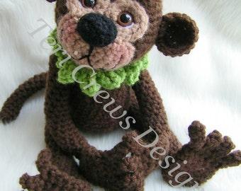 Simply Sweet Monkey Crochet Pattern by Teri Crews Instant Download Digital PDF