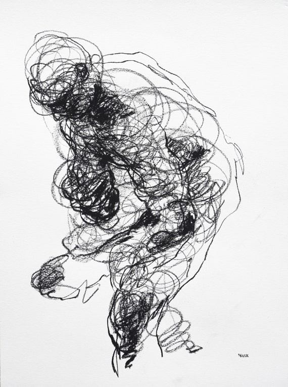 Scribble Gesture Drawing : Scribble gesture drawing of male figure x