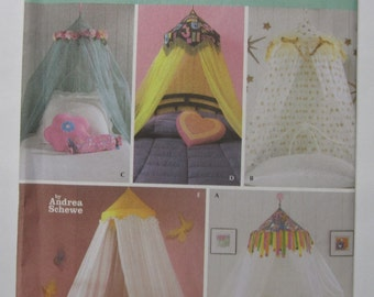 UNCUT Simplicity Pattern 5126 Easy Canopies Simply Teen Home Decorating Andrea Schewe