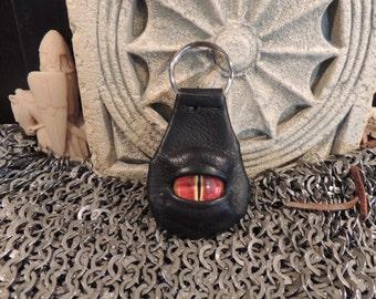 Dragon eye keychain (Black Leather with Red Eye)