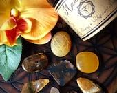 Solar Plexus Chakra (Manipura)- Herbal Incense and Crystals Set