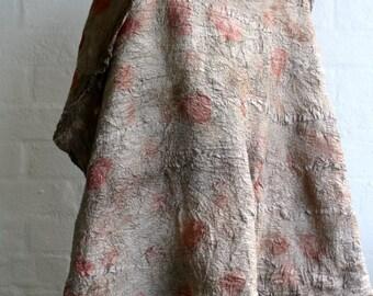 Made to order bespoke large eco dyed nuno felt wrap