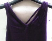Vintage 90's Deep Purple V Neck Mixed Cotton Tank Top Size S In Excellent Condition