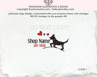 1490-1 dog logo, logo and business card set, shop banner, Custom Dog logo Design,  pet shop logo pet photography logo, pet accessories logo