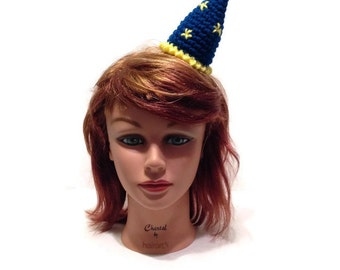 Wizard Hat, Mini Wizard Hat, Wizard Costume, Magician Headband, Halloween Costume, Halloween Headband, Magician Hat, Mini Magician Hat