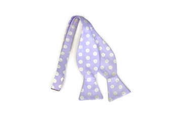 Sullivan's Island Sand Dollar Bow Tie on 100% Organic Cotton Sateen with Lavender background