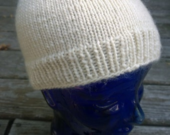 Eggshell Knit Hat > Beanie > Wool > Great Gift!