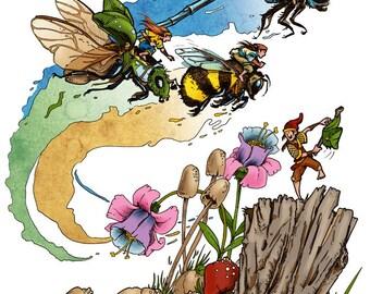 The Fairy Racers Print
