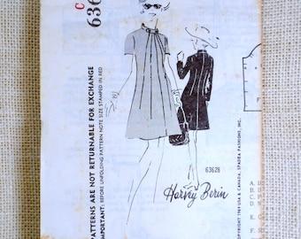 Vintage Pattern Spadea 63628 Bust 38 1960s Harvey Berin mail order A Line sunburst high collar dress Secretary Mad Men