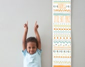 Custom/ Personalized Little But Fierce tribal print canvas growth chart - perfect for boy's room or nursery!