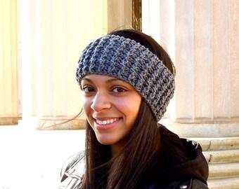 Crochet Headband, Ear Warmer, Gray, Women,Teen, Ready To Ship,