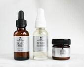 Valentine's Day Gifts for Men | Mens Grooming Kit | Beard Oil, Beard Wash and Beard Balm | Mens Gift Set | 100% natural beard care set