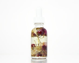 Body Oil | Floral Bath Oil | Wild Honeysuckle + Woods Body Bath Oil with rose, jasmine and honeysuckle | 100% natural & vegan - TRAVEL SIZE