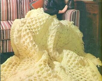 BERNAT AFGHANS HANDICRAFTER Book 160 Knitting and Crochet 13 Patterns