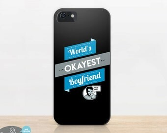 Funny Boyfriend Gift | for Boyfriend | phone case | Worlds Okayest | iphone 6 plus | iPhone 5 | Galaxy S5 | S4 | Note | Funny Gifts for Men