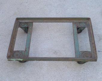 Vintage Industrial Metal Rolling Cart