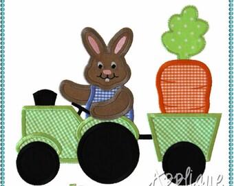 Bunny Tractor Applique