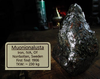 HUGE Muonionalusta Iron Meteorite - Spiritual Communication, Other World Energy, Alien Guide, Past Life, Star People, Astral Travel, Akashic