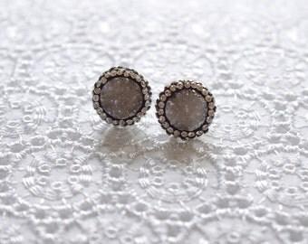 Gift For Her, Druzy Earrings, Daughter Gift, Crystal Jewelry, Girlfriend Jewelry, Gemstone Earrings, Bridesmaid Gift, Bridesmaid Earrings