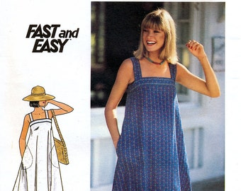 Butterick 5370 Vintage 70s Misses' Dress Sewing Pattern - Uncut - Size 8