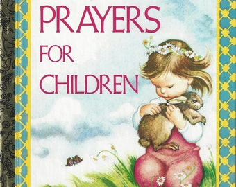 Prayers for Children A Little Golden Book Vintage Children's Book, C1974