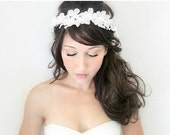 Floral Crown, Bridal Headband, Rustic Wedding, Flower Adornment, Wedding headpiece, Flower Head Wreath, Floral Crown, hair flower